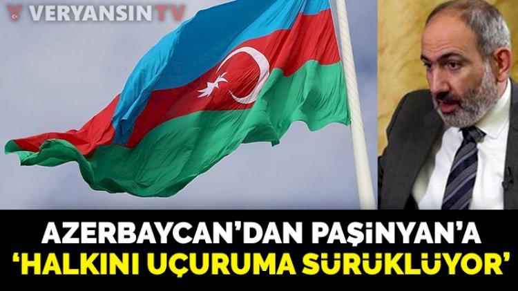Azerbaycan'dan Paşinyan'ın 'diplomatik çözüm yok' açıklamasına yanıt: Halkını uçuruma sürüklüyor