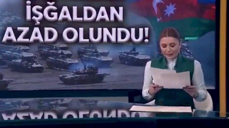 Azerbaycanlı spiker gözyaşlarına hakim olamadı