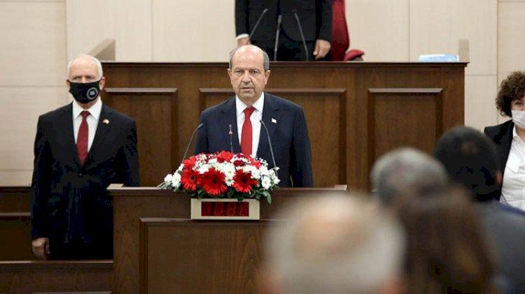 KKTC'nin yeni Cumhurbaşkanı Ersin Tatar ant içti