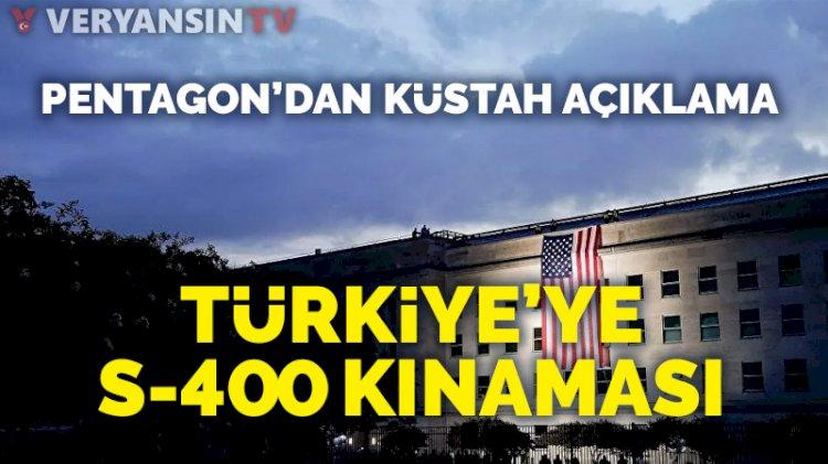 ABD'den S-400 testi için Türkiye'ye tehdit gibi sözler