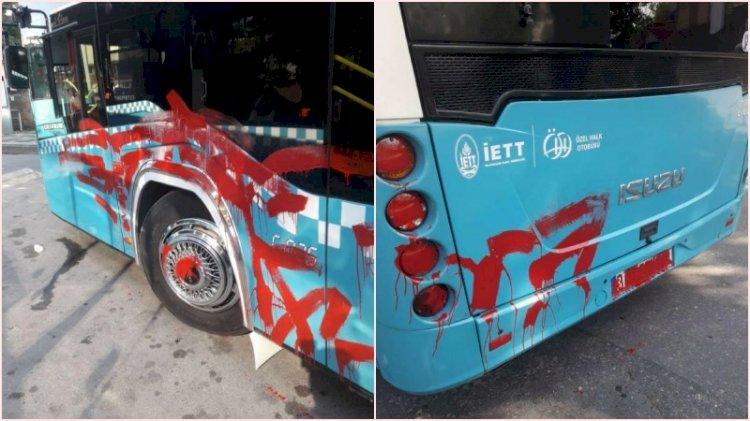 Otobüse alınmayınca aracı kırmızıya boyadı