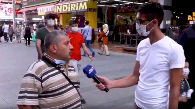 Sokak röportajında hükümeti eleştiren kişi gözaltına alınıp salındı