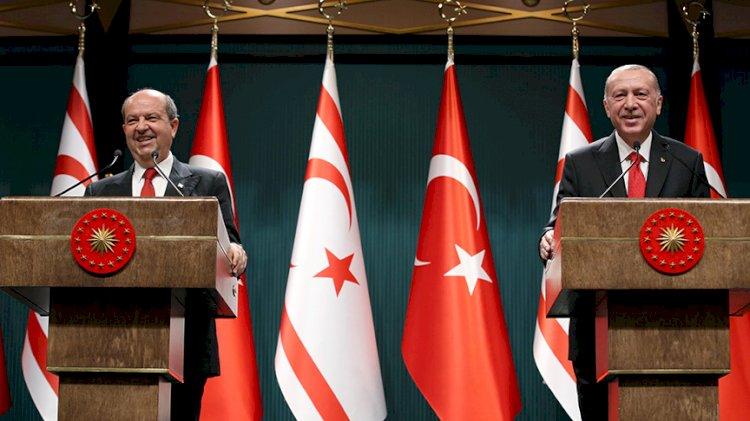 Erdoğan ve Tatar: Kıbrıs'ın geleceğinde iki devlet vardır