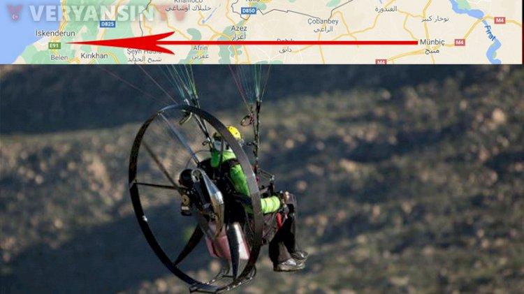 PKK'lı teröristler, Hatay'a paramotorlarla sızmış