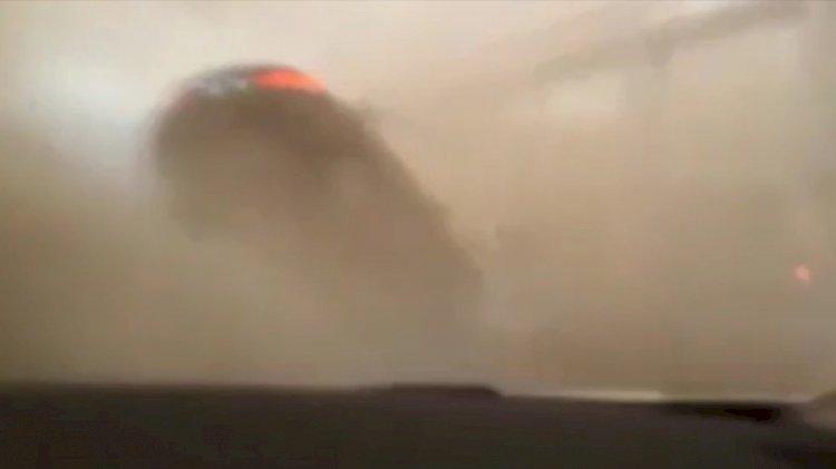 Araba hortuma kapıldı, sürücünün beli kırıldı