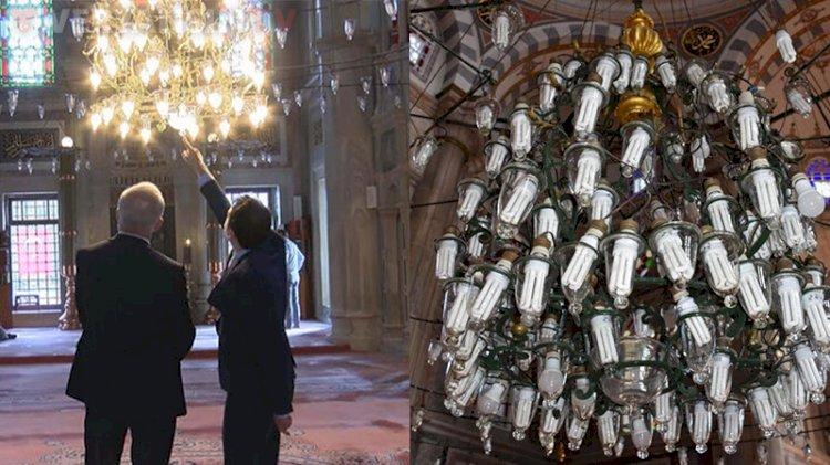 Laleli Camisi'nde ampul tartışması! İlber Ortaylı da tepki gösterdi