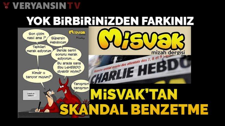 Misvak'ın 'Charlie Hebdo'ya yanıt karikatüründe skandal