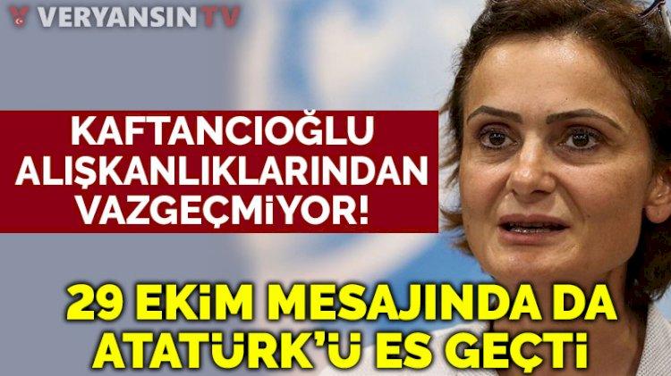 Canan Kaftancıoğlu, 29 Ekim'de de 'Atatürk' diyemedi