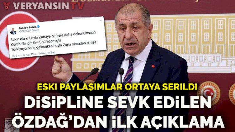 İYİ Parti'de disipline sevk edilen Ümit Özdağ'dan ilk açıklama