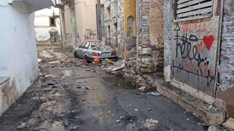 Depremin merkez üssü Yunan adası Sisam'dan ilk fotoğraflar
