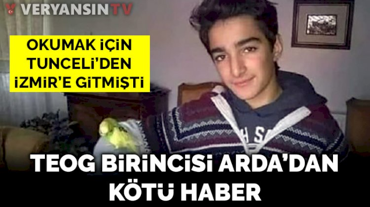 TEOG birincisi Arda Baran Demir'den kötü haber