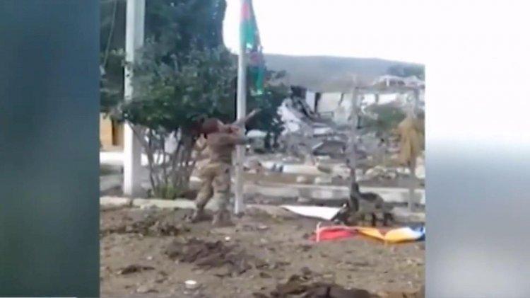 İşgalden kurtarılan kente Azerbaycan bayrağı diken kahraman asker şehit düştü