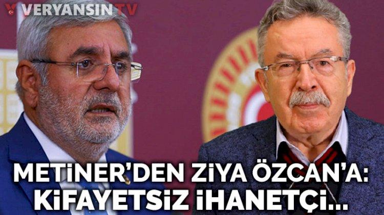 AKP'li Metiner'den Gelecek Partili Yusuf Ziya Özcan'a 'müptezel' cevabı