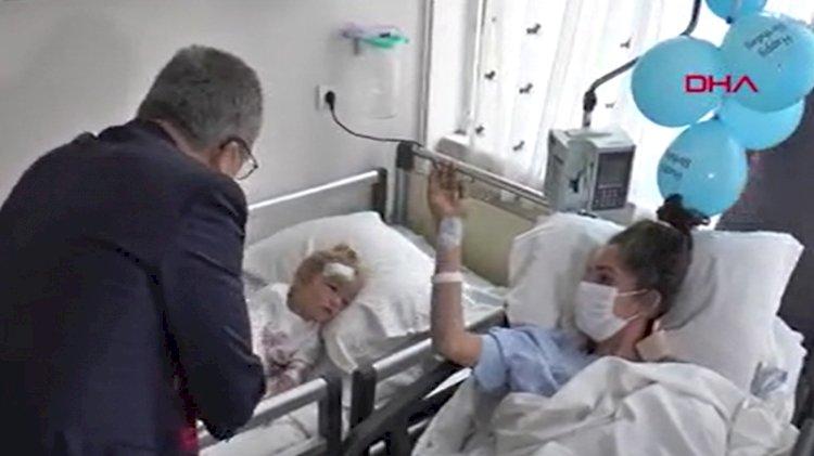 65 saat sonra kurtarılan 'mucize bebek Elif' ailesine kavuştu