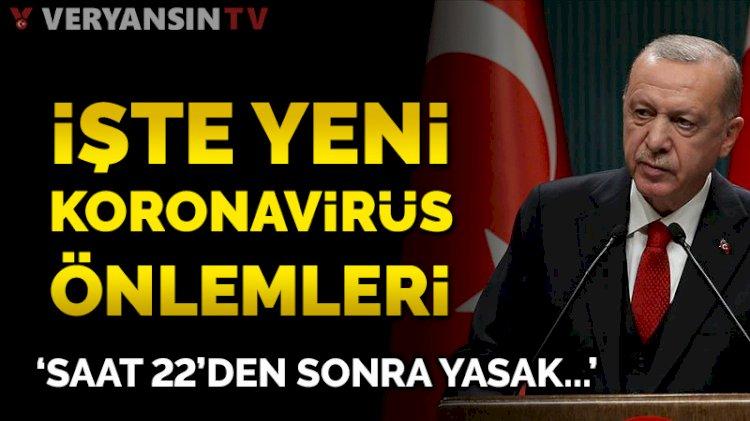 Erdoğan açıkladı: İşte yeni korona önlemleri