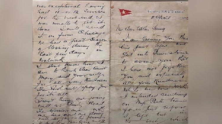 Titanic papazının mektubu satışa çıkıyor