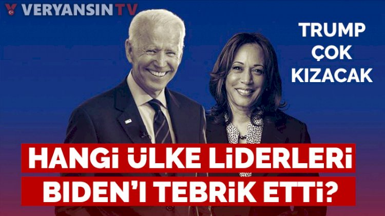 Dünya liderleri Joe Biden'ı tebrik etmeye başladı