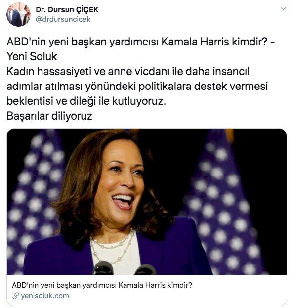 Dursun Çiçek Türkiye'yi soykırımla suçlayan Kamala Harris'e başarı diledi -  Son Dakika Özel Haberler Köşe Yazıları