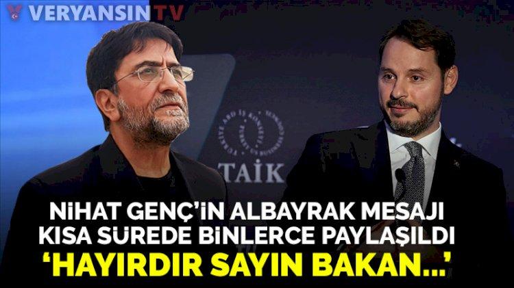 Nihat Genç'ten Berat Albayrak açıklaması: Milletin anası ağlarken...