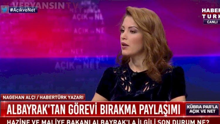 Nagehan Alçı'dan Berat Albayrak iddiası: Cumhurbaşkanı yüzde doksan...