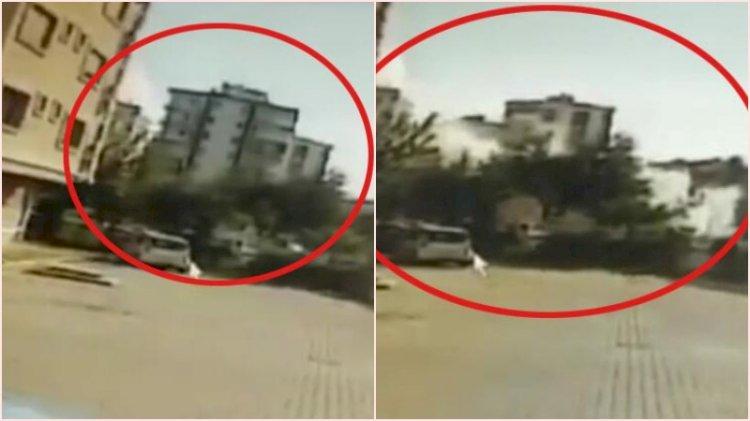8 kişiye mezar olan Yağcıoğlu Apartmanı'nın yıkılma anı ortaya çıktı