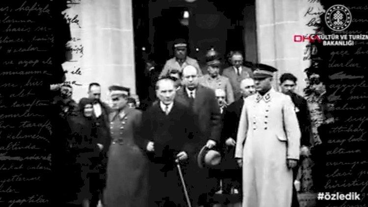 Atatürk'ün ilk kez yayınlanan görüntüleri