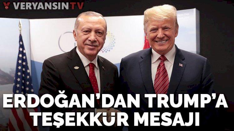 Cumhurbaşkanı Erdoğan'dan Trump'a mesaj