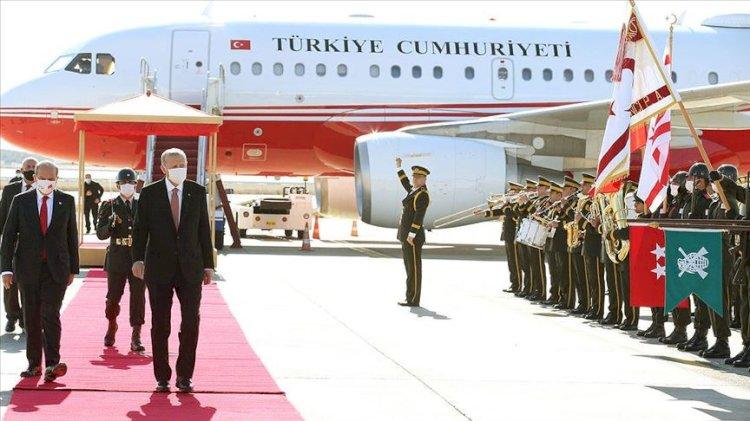 Cumhurbaşkanı Tayyip Erdoğan KKTC'de