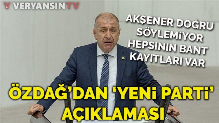 İYİ Parti'den ihraç edilen Ümit Özdağ'dan 'yeni parti' açıklaması
