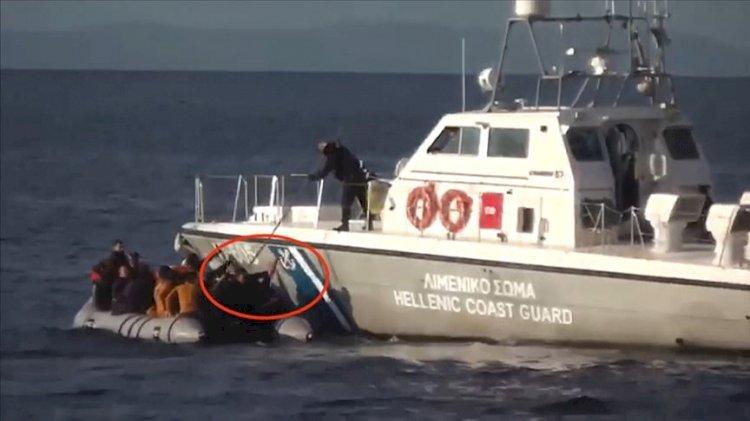 Ege'de utanç görüntüleri... Yunan kuvvetleri botu deldi, NATO izledi