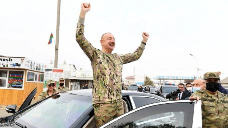 Azerbaycan ordusu 27 yıldır işgal altındaki Ağdam'a girdi