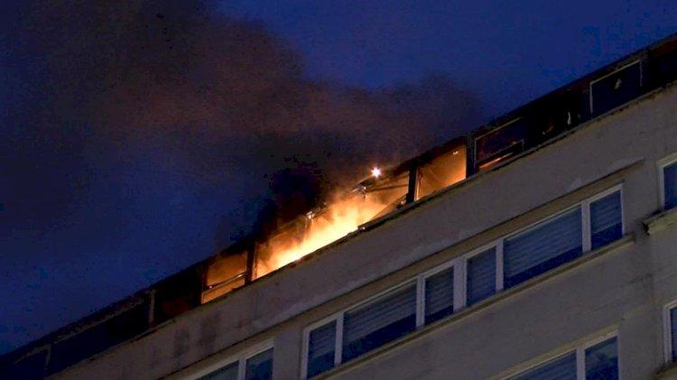 Perpa'da korkutan yangın