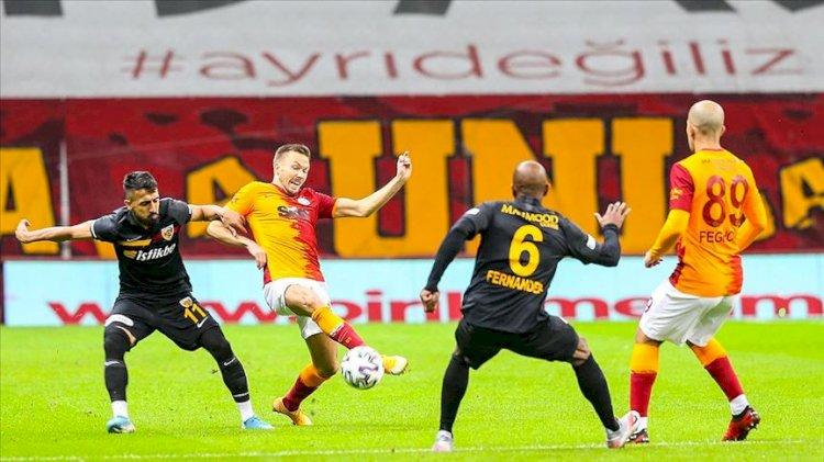 Galatasaray evinde Kayserispor'a takıldı