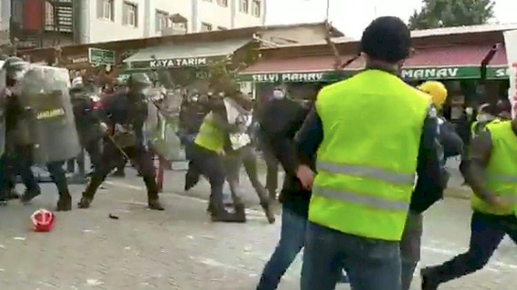 Yeniden Ankara'ya yürüme kararı alan madencilere gözaltı