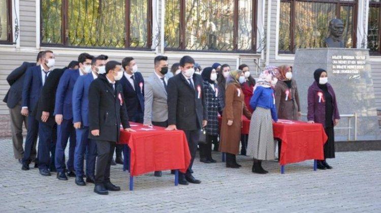 Harem-selamlık öğretmen yemin töreni