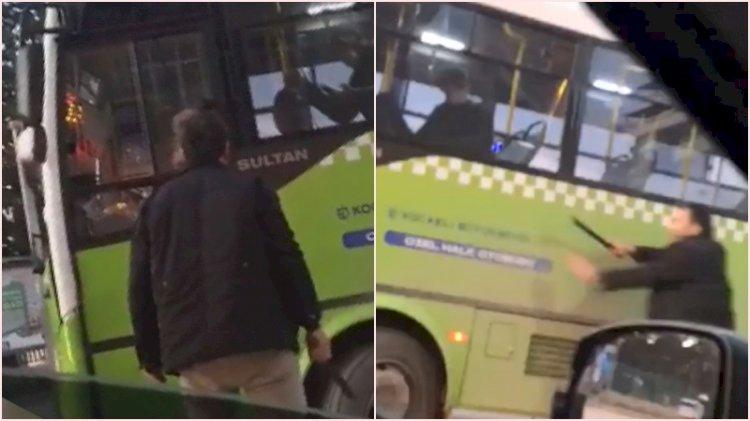 Halk otobüsü şoförüne copla saldırdı