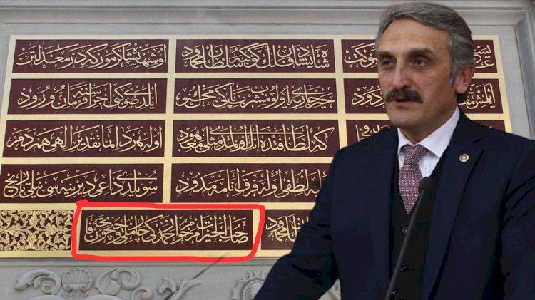 Tarihi çeşmeye babasının adını yazdıran AKP'li vekil: Ne var yani bunda?