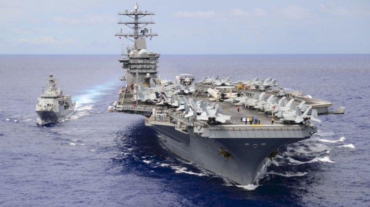 ABD uçak gemisi USS Nimitz'e dikkat çeken emir