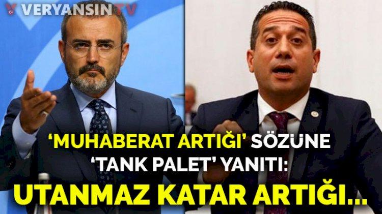 'Muhaberat artığı' sözüne 'Tank Palet' yanıtı: Utanmaz Katar artığı...