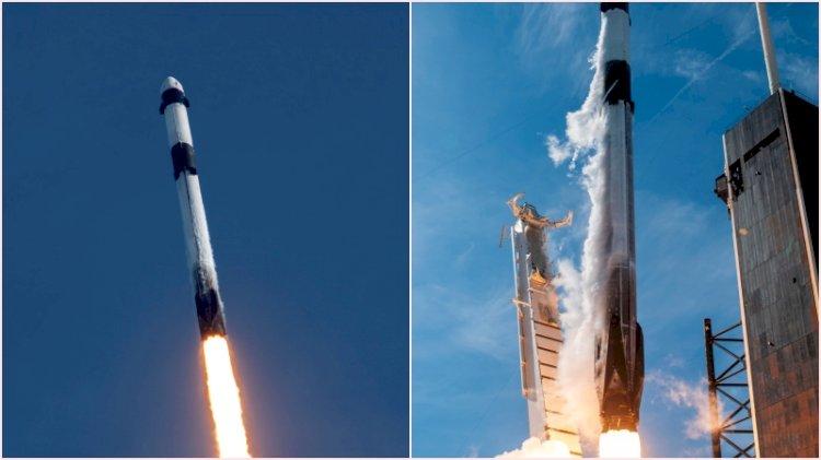 Space X'a ait Falcon 9 roketi fırlatıldı