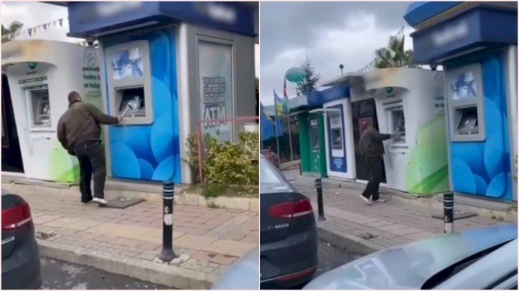 Beykoz'da ATM'lere çekiçli saldırı kamerada