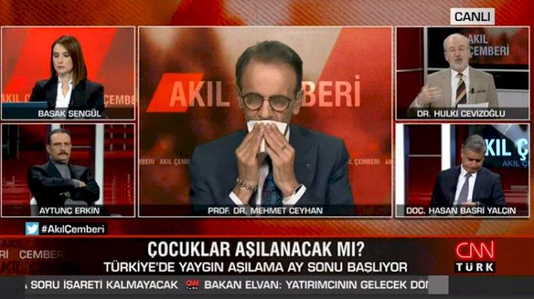 Prof. Dr. Mehmet Ceyhan canlı yayında fenalaştı