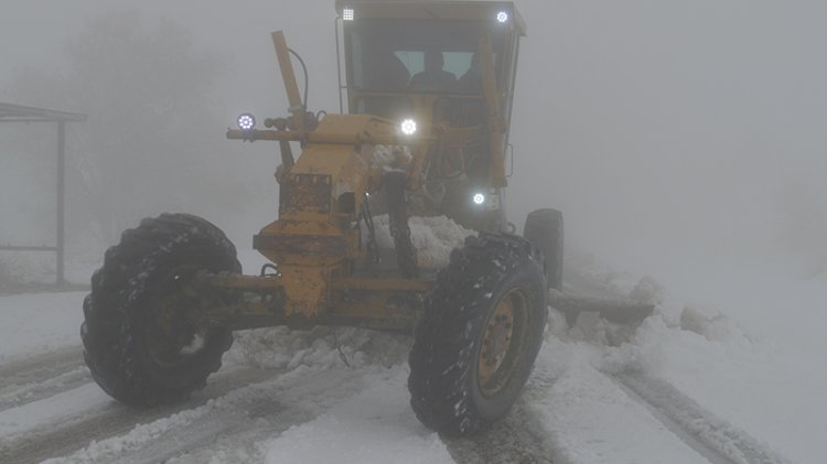 13 köy yolu kardan ulaşıma kapandı