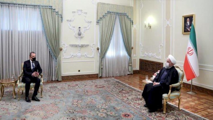 İran Cumhurbaşkanı Ruhani, Azerbaycan Dışişleri Bakanı Bayramov ile görüştü