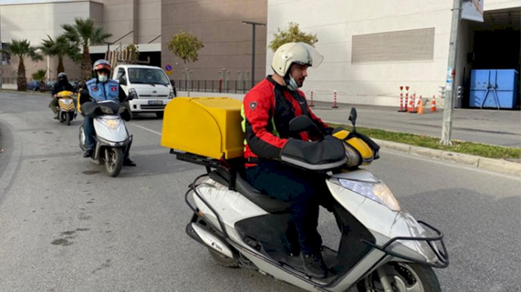 Motosikletli kuryelerden isyan