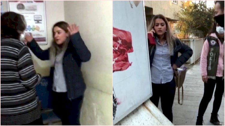 Maske takmayan kadından polise: Artistliğiniz kime?
