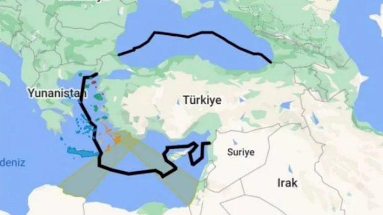 Cem Gürdeniz'in isim babası olduğu Mavi Vatan haritası Google'da yayınlandı