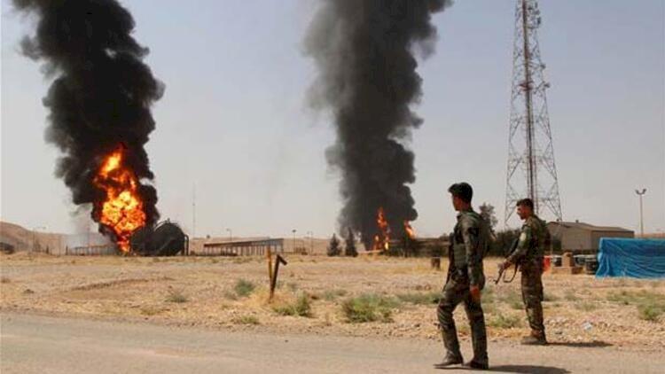 Kerkük'te IŞİD'in saldırdığı petrol kuyularında yangın söndürülemiyor