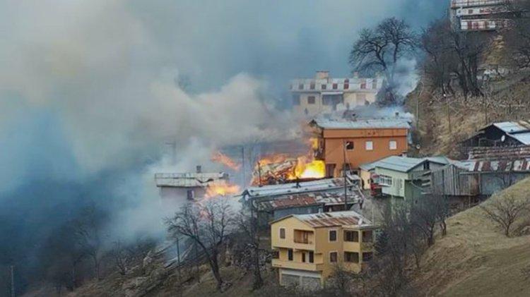 Rize'de köyde yangın: Ekipler müdahale ediyor