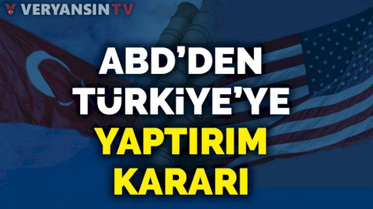 ABD'den Türkiye'ye S-400 nedeniyle yaptırım kararı